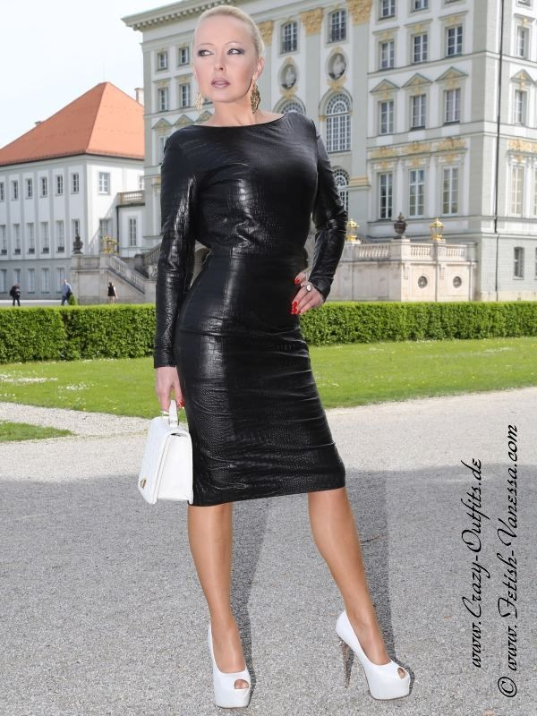 leather kingdom fashion shop leather dress ds 158 designed by crazy outfits. Black Bedroom Furniture Sets. Home Design Ideas
