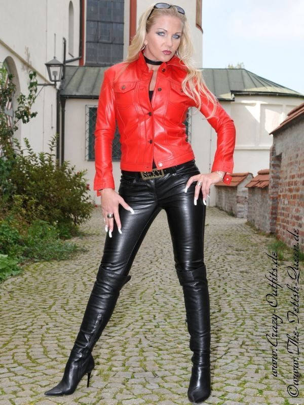 Milf In Leather Jacket