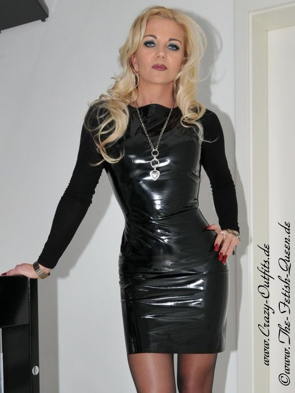 Leather Kingdom Fashion Shop - PVC dress DS-036V - designed by Crazy Outfits