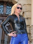 leather blouson DS-619